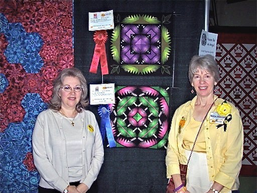 Cheryl and Betty at quilt show
